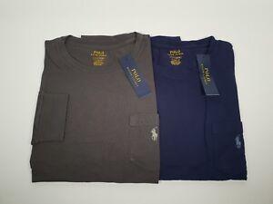 New Authentic Polo Ralph Lauren Men's Long Sleeve Cotton Pocket T Shirt SALE