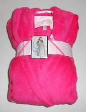 "Victoria's Secret ""The Cozy"" Short Plush Fleece Hooded Wrap Robe Pink L NWT"