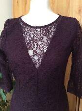 Next Plum Lace Wiggle Dress - Size 12 (BNWT)
