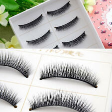 5 Pair Natural Thick Short Cross Black Extension Fake Eye Lashes False Eyelashes