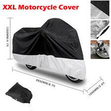 XXL Motorradabdeckung Motorrad Garage Abdeckplane Wasserdicht UV Bike Cover LWDE