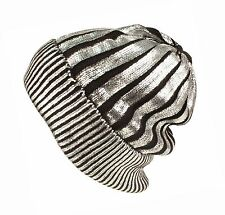 HOT NEU Metallic Silber Beanie Mütze Schwarz