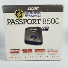 ESCORT PASSPORT 8500 X50 RADAR DETECTOR BLUE LED READOUT WITH CARRY CASE!