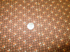 """673. RUST & BROWN LEAF CHECK Quilting or Craft  Cotton Fabric - 76"""" x 2 1/4 Yds."""
