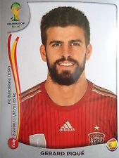 Panini 112 Gerard Pique Spanien FIFA WM 2014 Brasilien