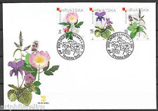 "CROATIA - 2004 ""Native Medicinal Plants"" First Day Cover (FDC) !!!"