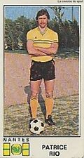 N°183 PATRICE RIO # FC.NANTES STICKER PANINI FOOTBALL 1977