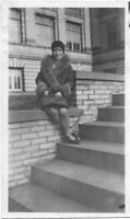 A Woman From Before VINTAGE Black + White FOUND PHOTO Original Portrait 04 27 T