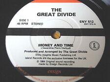 """The Great Divide dinero y tiempo 7"""" Vinilo"""