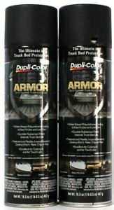 2 Ct Dupli-Color 16.5 Oz Bed Armor Durable Rubberized Finish DIY Truck Bed Liner