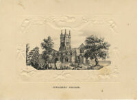 St Mary's Church, Eynesbury Cambs –Original early 19th-century pen & ink drawing