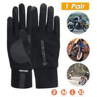 Motorrad Handschuhe Sport Fahrrad Winter Vollfinger Touch Screen Wasserdicht DE