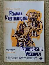 Vintage horror film poster 'Prehistoric women' Hammer 1967, Belgian