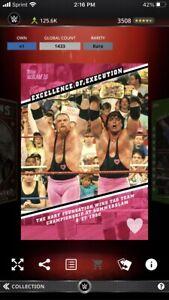 Topps WWE Slam Excellence Of Execution Summerslam 1990 Bret Hitman Hart 1433cc