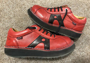 ART DAS Vintage Boots, Size 39, Fit UK 6, Red, Real Leather, 90's, Y2K, Free P&P