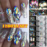 Mixed Size Crystals AB Shiny Flat Diamond Gems Rhinestones Nail Art DIY Decor