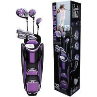Ladies 13 Piece Golf Club Set Purple Iron Lightweight Cart Bag Flex Complete New
