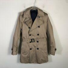 Banana Republic Trench Coat Women's XS Beige Double Crested 2 Layer Winter Coat