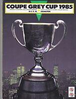 1985 GREY CUP PROGRAM,HAMILTON TIGER CATS--B C LIONS