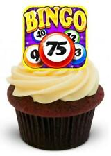 BINGO 12 STAND UP Edible Cake Toppers Premium Wafer Paper Stand Ups Gambling