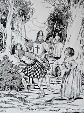 Large pen and ink drawing for book illustration by Helen Mary Jacobs 1888-1970