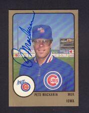 Pete Mackanin 1988 Iowa Cubs Autographed Signed w/COA jh55