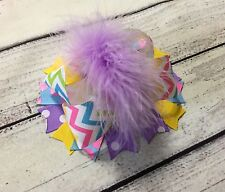 Multi Color Easter Over The Top Boutique Hair Bow For Newborn Baby/Toddler/Girl