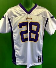 J759/190 NFL Minnesota Vikings Adrian Peterson #28 Reebok Jersey Youth XL 18-20