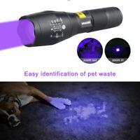 WF-501B UV 395NM LED Flashlight Ultraviolet Tactical Lamp Zoomable Purple Light