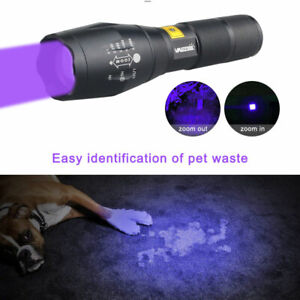 WF-501B UV 395NM LED Flashlight Ultraviolet Tactical Lamp Zoomable Purple Light