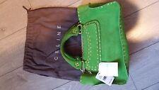 Celine Top Handle Green Sude Boogie Bag Handbag