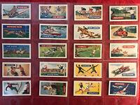 1954 EWBANKS-SPORTS & GAMES-BOXING-GOLF-TENNIS-COMPLETE 25 CARD SET-N-MINT