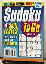 Sudoku To Go 4 Skill Levels 100 New Puzzles Volume 114 2019 FREE SHIPPING JB