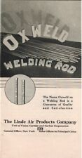 1933 OXWELD Welding Rod, Linde Air Products, Oxy-Acetylene Welds Welder Booklet
