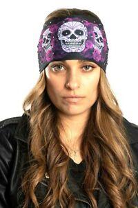 Hair Glove® Purple Sugar Skull with Gems EZ Bandz Soaker Series #57528 Headband