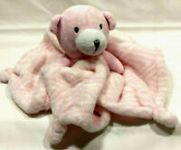 Diamond Pink White Bear Lovey Infant Soother Baby Security Blanket Plush Toy