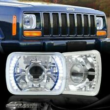"7""x6"" H6014 H6052 H6054 Blue LED Chrome Housing Projector Headlights Universal 5"
