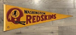 VINTAGE 1970s WASHINGTON REDSKINS NFL PENNANT