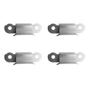 Stainless Steel Flat Square Holder Glass Clamp Brackets 4pcs for 3D Printer T9L4