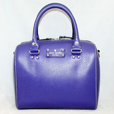 KATE SPADE WKRU1743 Wellesley Alessa Convertible Satchel Blue Lthr Gold Hdwr