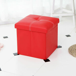 Foldable Ottoman Storage Box Home Furniture Sofa Stool Footrest Seat Chair Bench