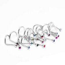 Wholesale lot of 12pc 18G Nose Ring Screw Stud 316l surgical steel body jewelry