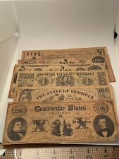 Confederate States 1860s Bank Notes Reproduction