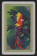 1 Single VINTAGE Swap/Playing Card USNN BIRD PARROT 'POLLY PO-2-1' Grape Vines