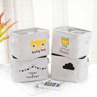 Storage Basket Bag Cotton Linen Desktop Box Sundries Organizer Cosmetic Holder