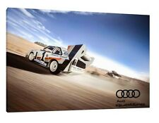 Audi S1 Quattro - 30x20 Inch Canvas - Framed Picture Rally Print