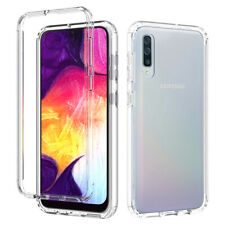 For Samsung Galaxy A10e A20s A51 Clear TPU Hard Back Case Cover+Tempered Glass