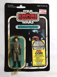 Vintage Star Wars Star Destroyer Commander Death Squad ESB 41E MOC Free Coin