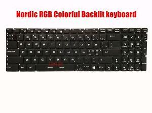 Nordic keyboard for MSI GL62 6QC/GL62 6QD/GL62 6QE/GL62 6QF/GL62 7RD/GL62 7RDX