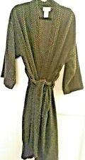KnightsBridge Black Gray Terry Cloth Robe  Pockets Belt Men's One size Calf